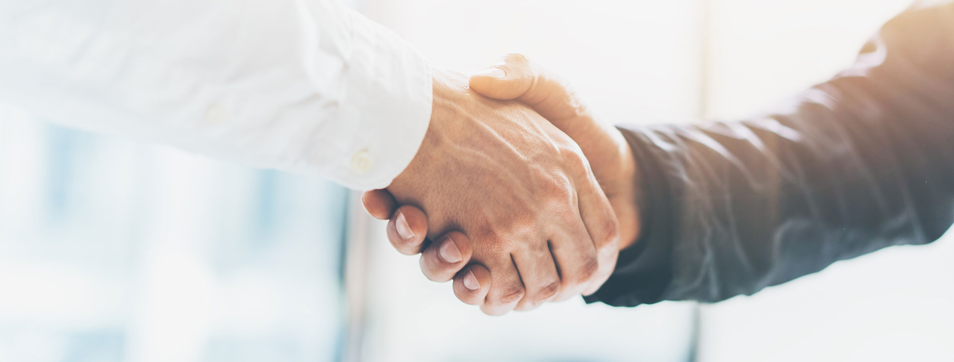 Business handshake for buying a franchise