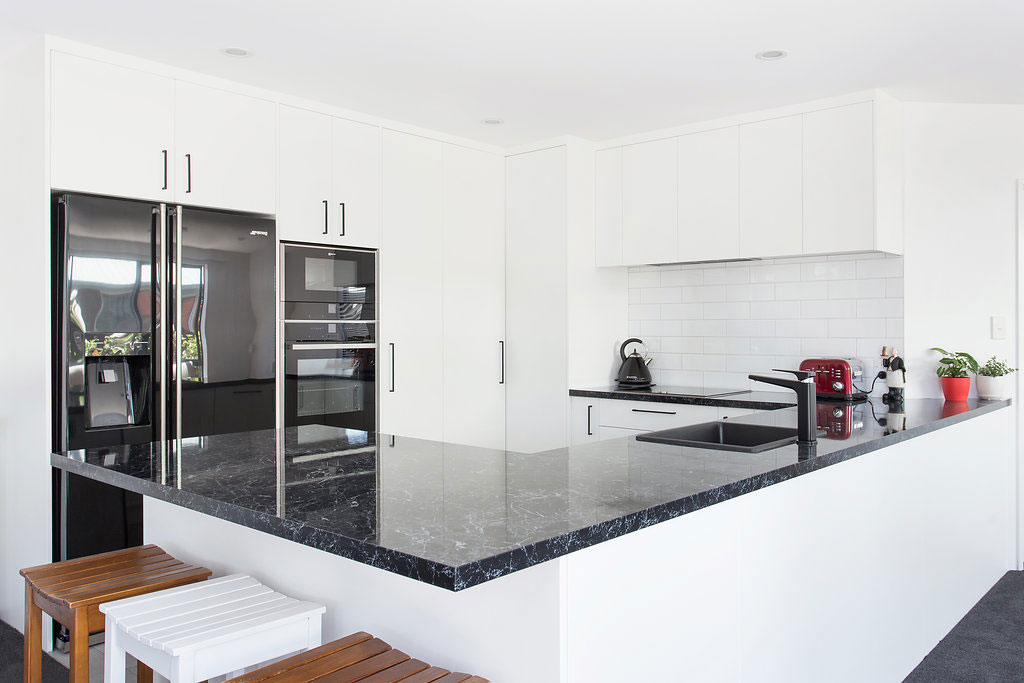 black and white themed kitchen & Christchurch | Dream Doors